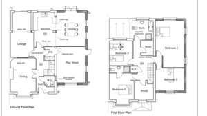 Wiseman Designs - Design with Open Plan Kitchen and Playroom plan